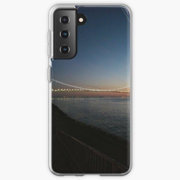 Sunset, Night, Water, Bridge Samsung Galaxy Soft Case