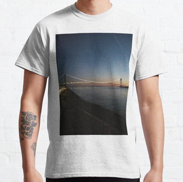 Sunset, Night, Water, Bridge Classic T-Shirt