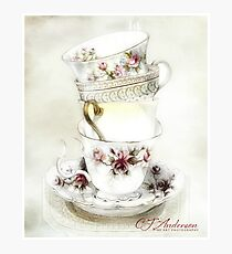 Stacked Teacups Photographic Print