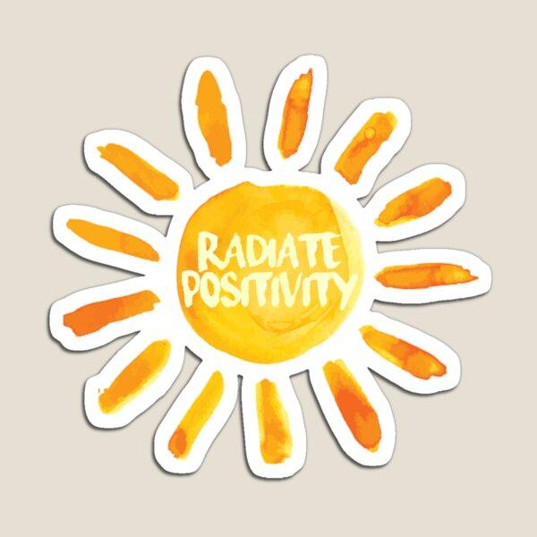 Radiate Positivity Sun Painted Sticker Magnet