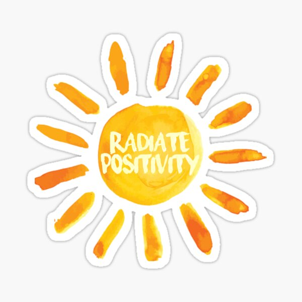 Radiate Positivity Sun Painted Sticker Sticker