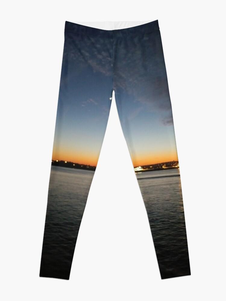 Alternate view of Sunset, Night, Water, Bridge Leggings