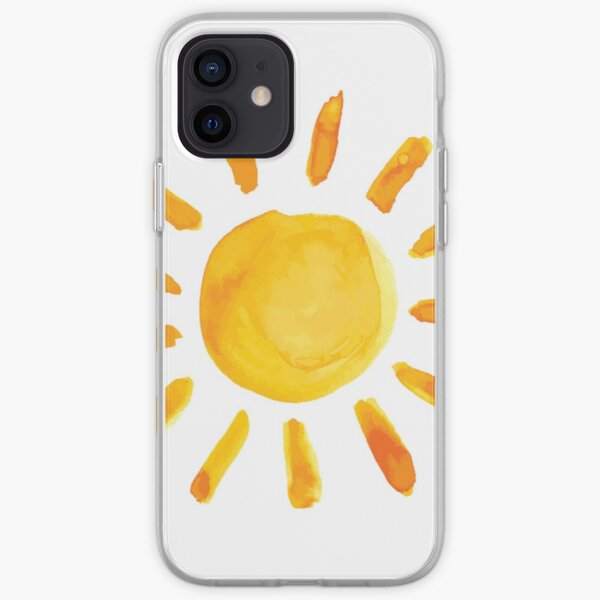 Brushed Watercolor Painted Sun iPhone Soft Case