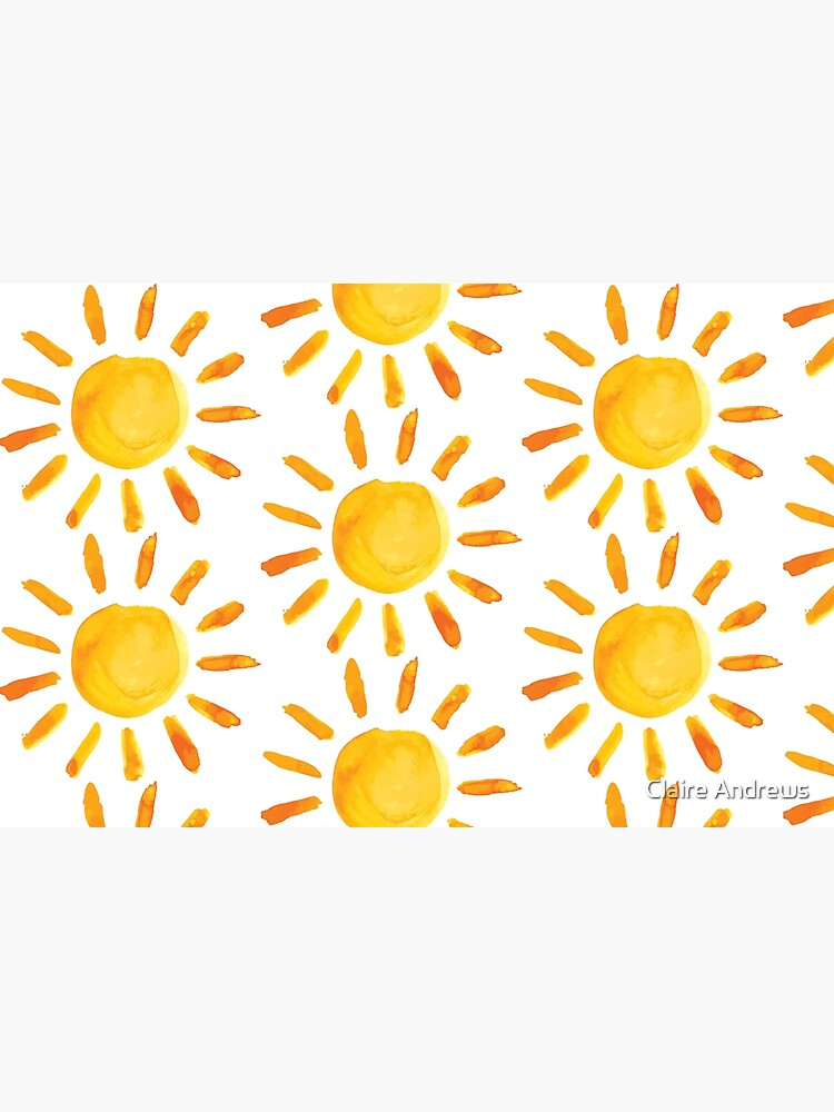 Brushed Watercolor Painted Sun by Claireandrewss