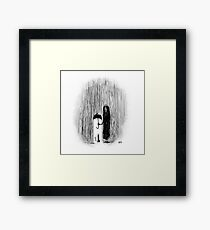 Inktober 2017 Day 29 - Cat in the Rain Framed Print