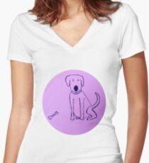 Dog - Chien - Martin Boisvert T-shirt col V femme