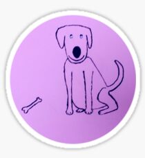 Dog - Chien - Martin Boisvert Sticker