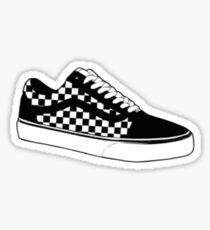 Skating Checkered Shoes Sticker