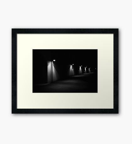 Light Puddles - The Rocks - Sydney - Australia Framed Print