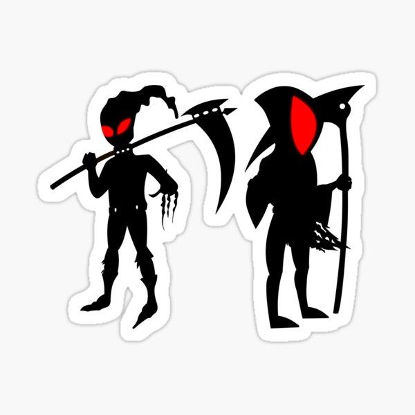 Grim Reaper Red Aura Sticker