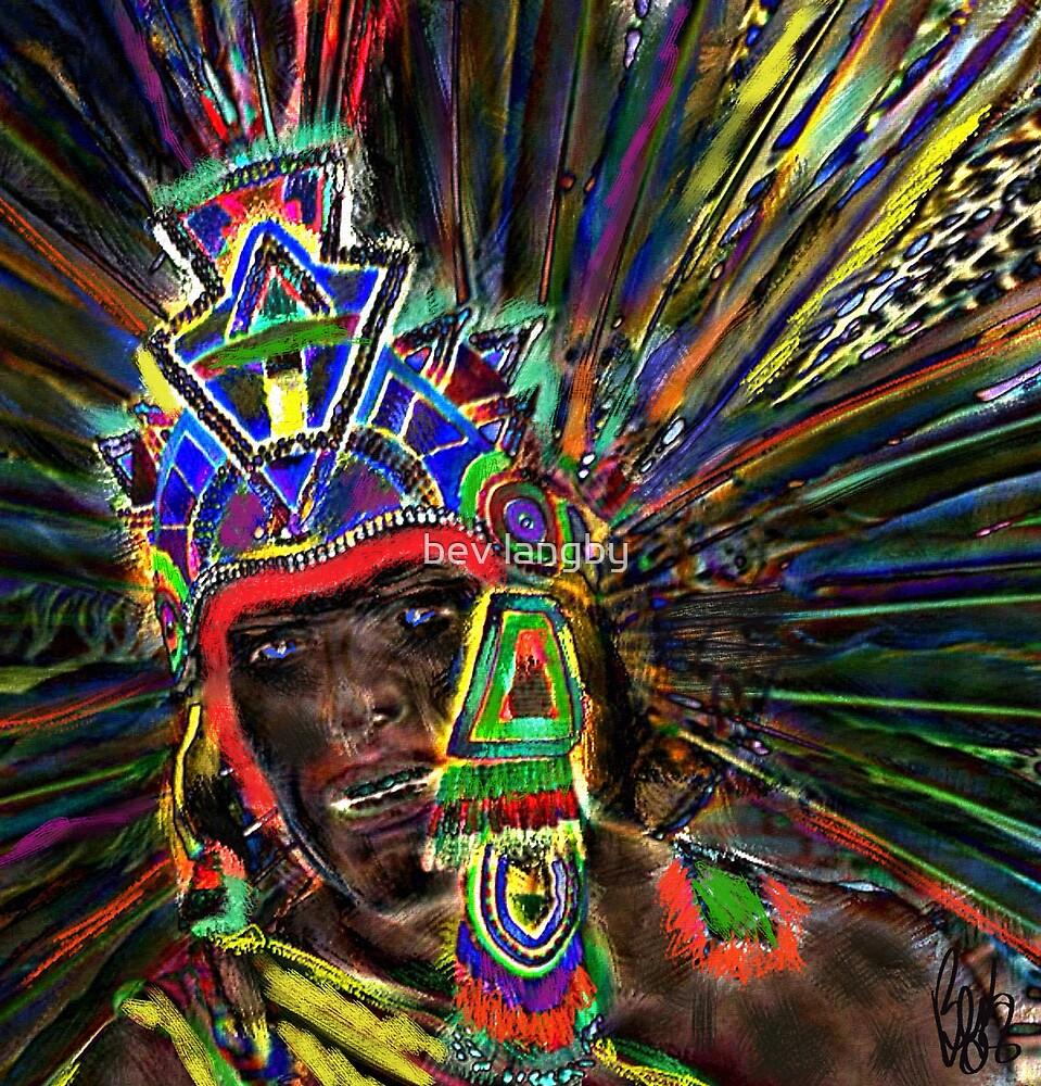 Aztec Warrior by bev langby