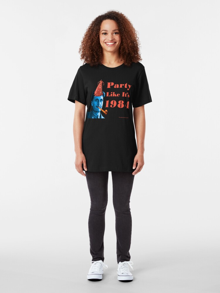 Alternate view of Party Like It's 1984 Slim Fit T-Shirt