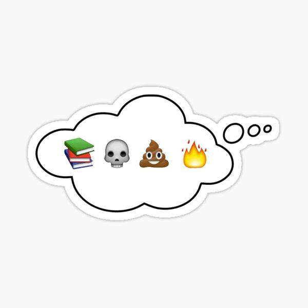 #booksskullpoopfire Sticker