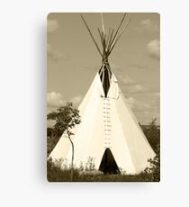 Tepee in the Prairies Canvas Print