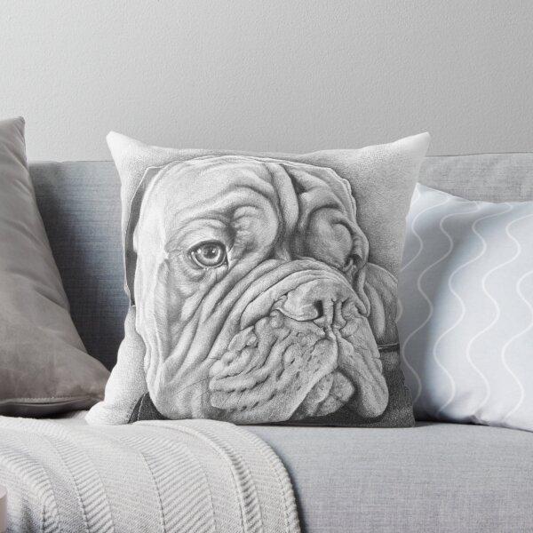 The Dogue De Bordeaux Throw Pillow