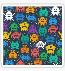 Retro video game monsters pattern Sticker