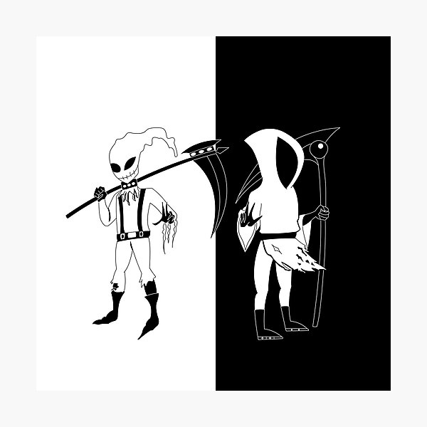 "Grim Reaper Blk&Wht ""The Money Store"" Edition Photographic Print"