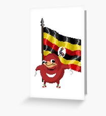 Uganda Knuckles Pixel Greeting Card