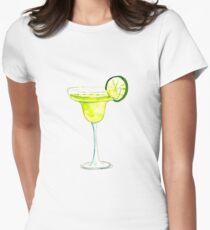 Tropical Margarita Sticker Women's Fitted T-Shirt