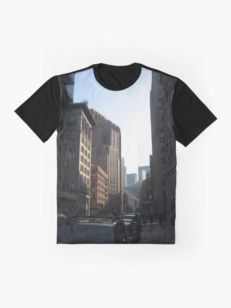 Alternate view of New York, Street, Buildings, Cars, Windows, Sun Light Graphic T-Shirt