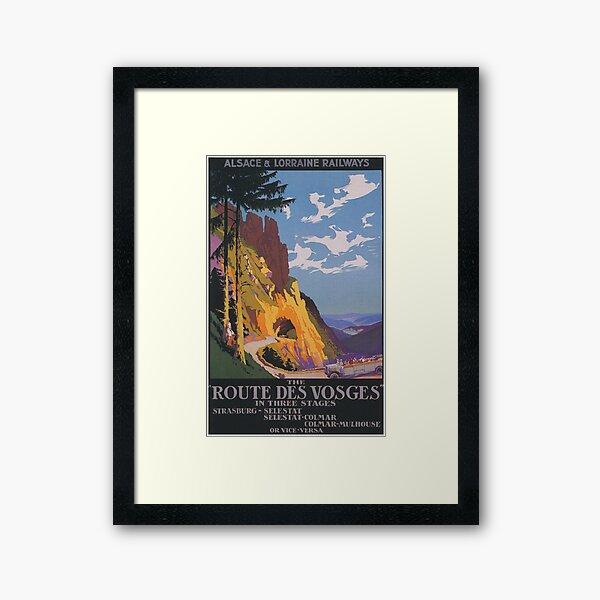 Vosges, France Affiche de voyage vintage Impression encadrée