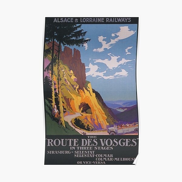 Vosges, France Affiche de voyage vintage Poster