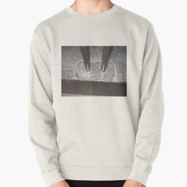 Metal, metal bollards, metal porch, sun glares Pullover Sweatshirt