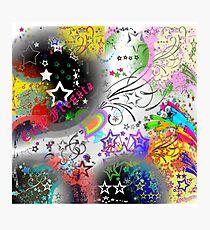 Colorful Stars Photographic Print