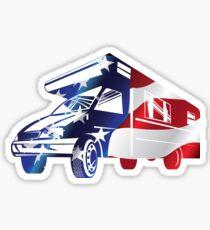 USA Flag RV Camping Sticker
