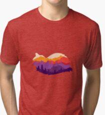 Double exposure cat Tri-blend T-Shirt