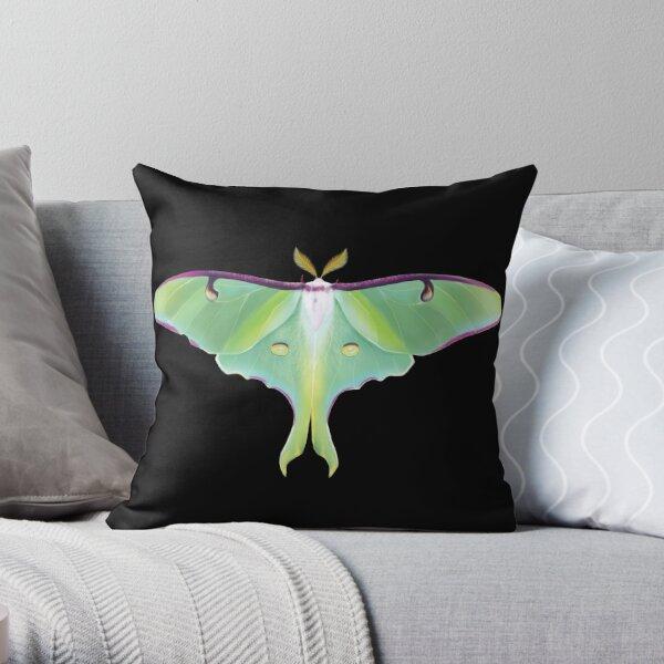 Luna Moth - Nature Illustration Throw Pillow