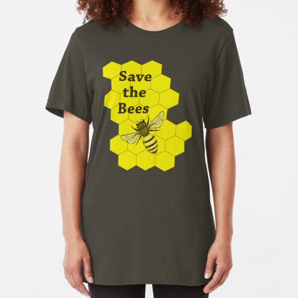 Save the Bees Slim Fit T-Shirt