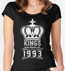 Birthday Boy Shirt - Kings Are Born In 1993 Women's Fitted Scoop T-Shirt