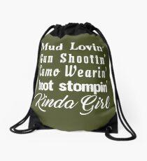 Mud Lovin' Kinda Girl Country Music Rodeo Cowgirl Drawstring Bag