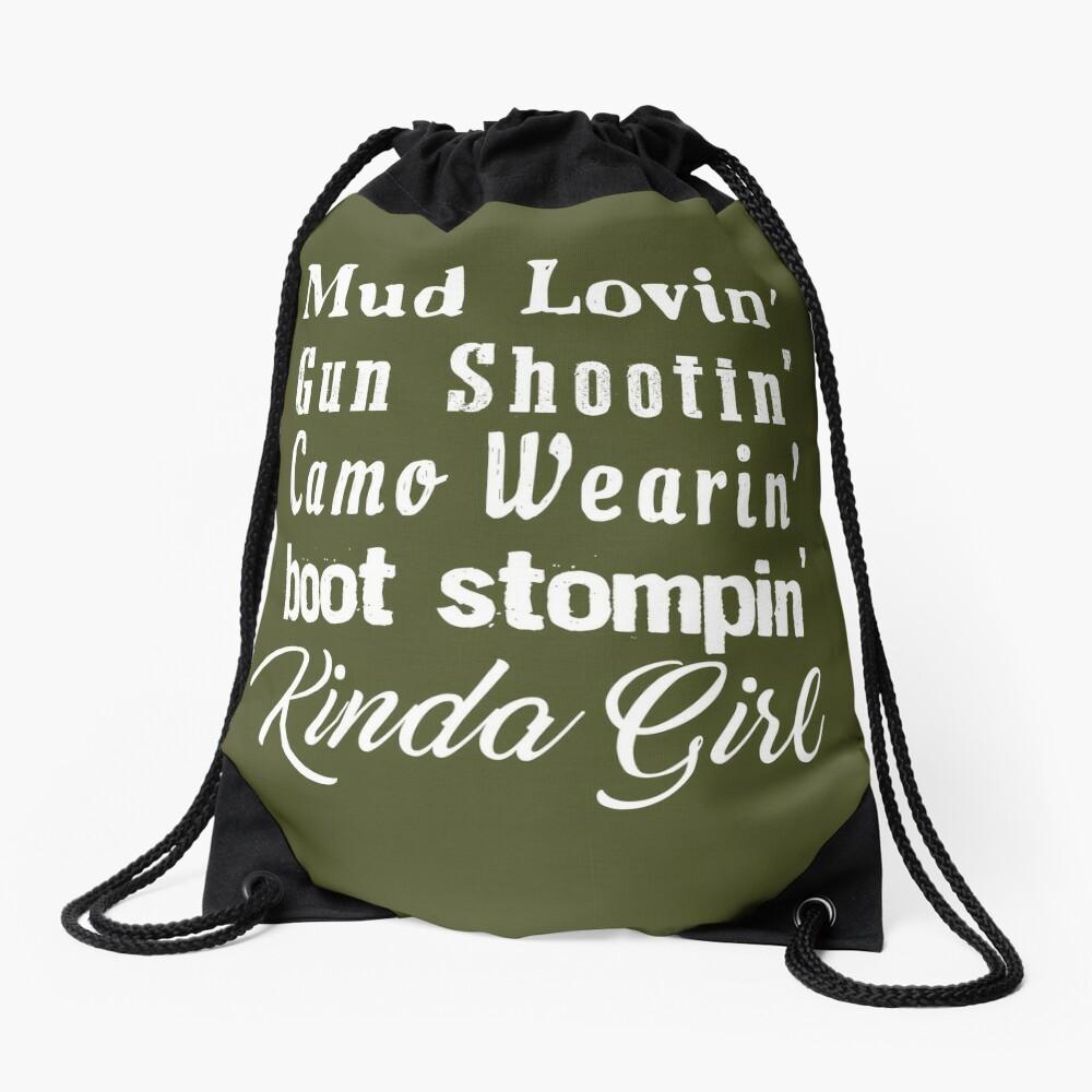 Mud Lovin 'Kinda Girl Country Music Rodeo Cowgirl Mochila saco