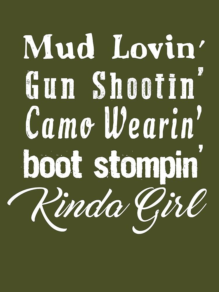 Mud Lovin 'Kinda Girl Country Music Rodeo Cowgirl de TheCreekMan