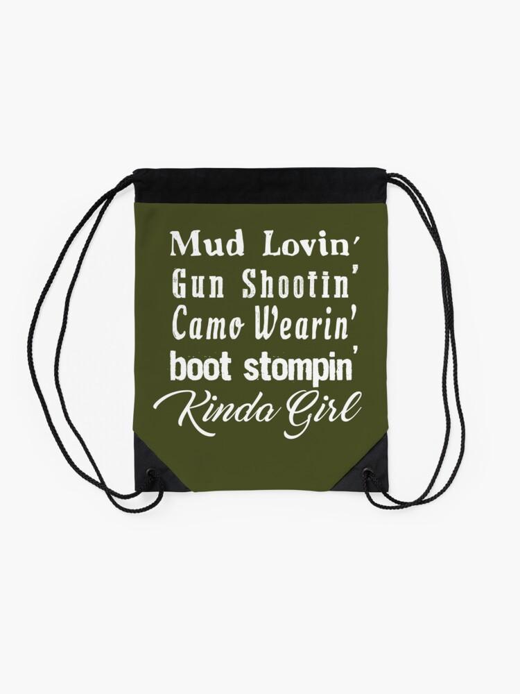 Vista alternativa de Mochila saco Mud Lovin 'Kinda Girl Country Music Rodeo Cowgirl