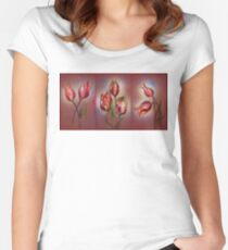 Tulips - Red Beauty  Women's Fitted Scoop T-Shirt