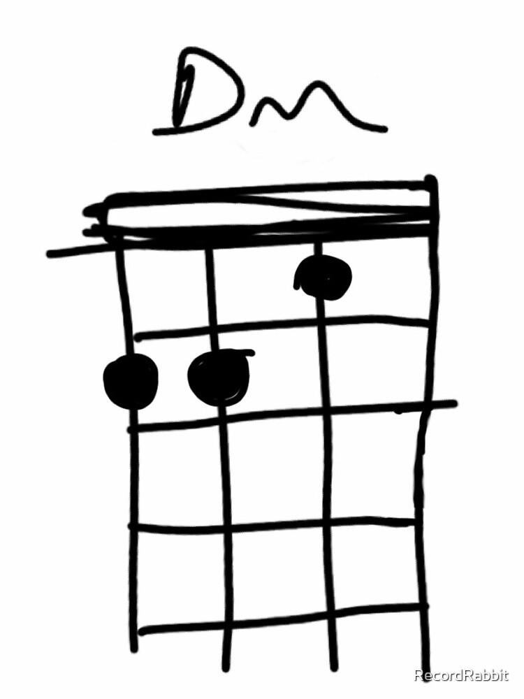 Ukulele Minor Chord Series Dm By Recordrabbit Redbubble