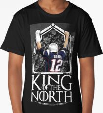 Tom Brady King Of The North New England Patriots Football Shirt Long T-Shirt