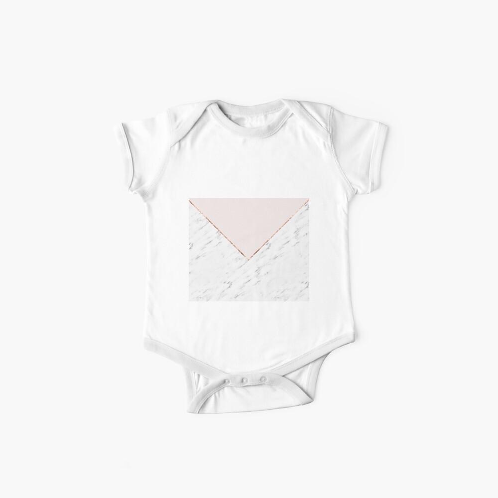 Pfingstrose errötet geometrischen Marmor Baby Body