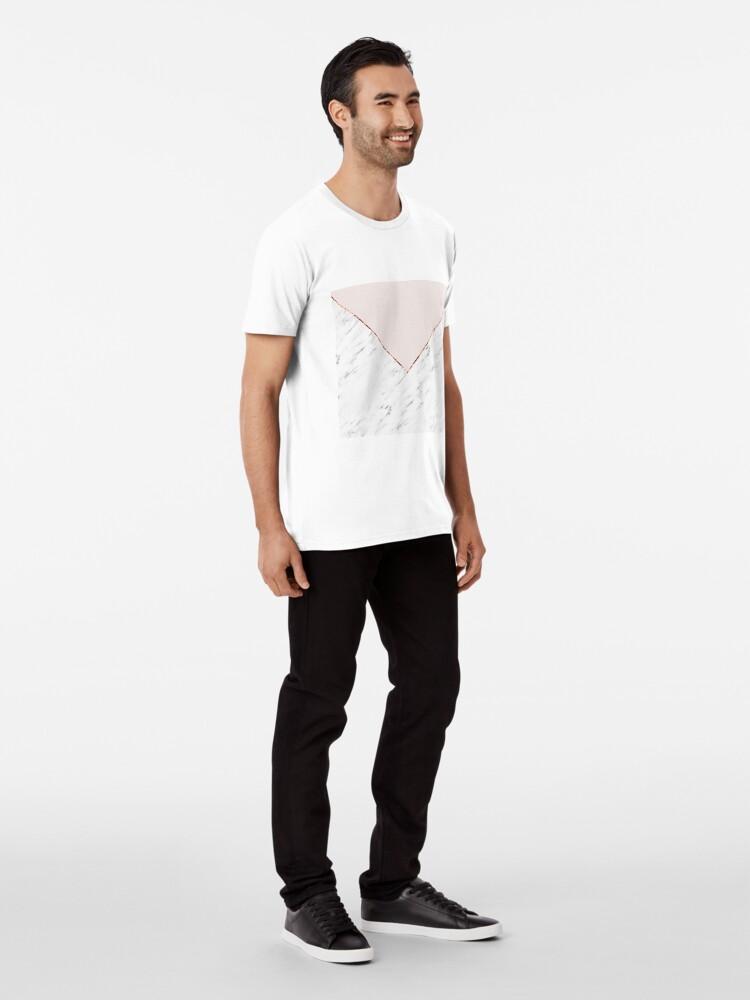 Alternative Ansicht von Pfingstrose errötet geometrischen Marmor Premium T-Shirt
