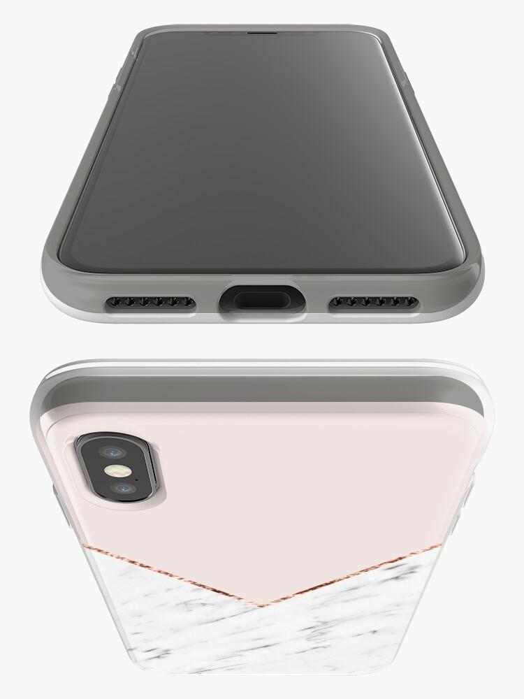 Alternative Ansicht von Pfingstrose errötet geometrischen Marmor iPhone-Hüllen & Cover