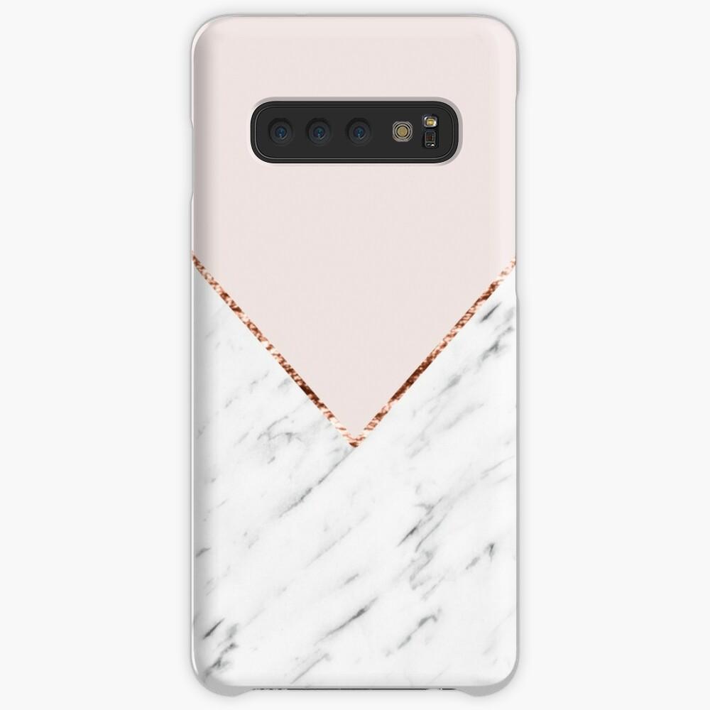 Peony blush geometric marble Case & Skin for Samsung Galaxy