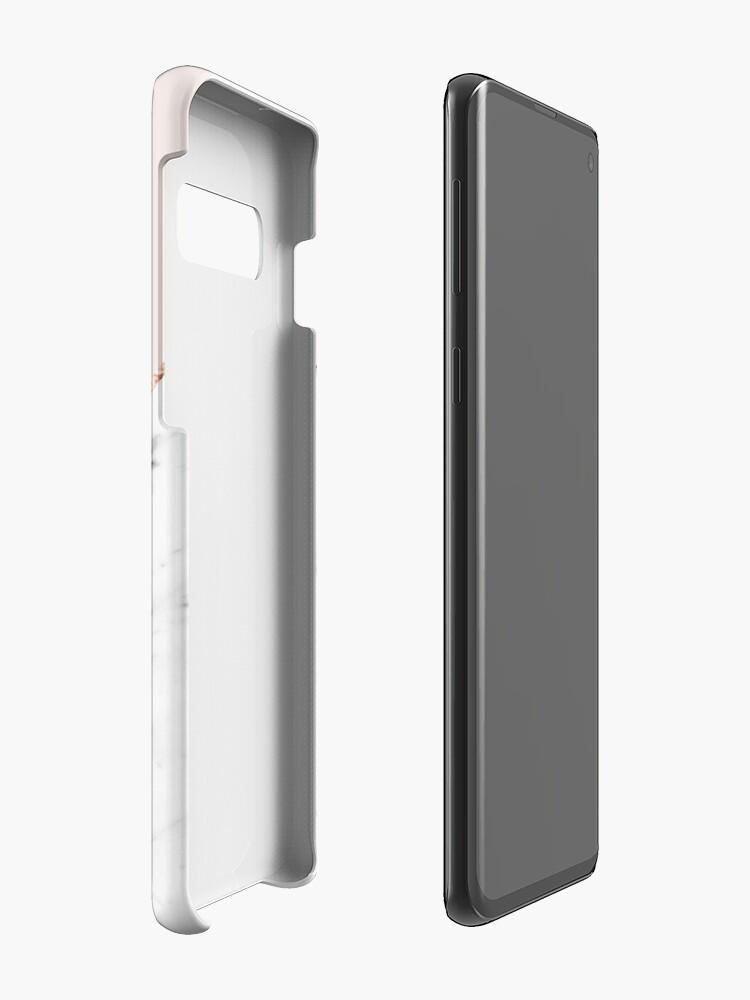 Alternative Ansicht von Pfingstrose errötet geometrischen Marmor Hüllen & Klebefolien für Samsung Galaxy