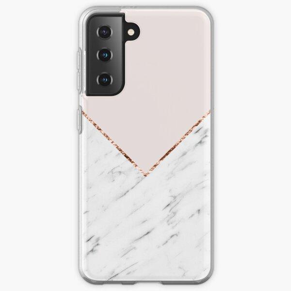 Peony blush geometric marble Samsung Galaxy Soft Case