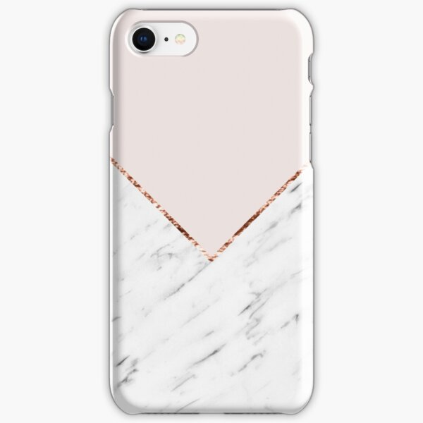Peony blush geometric marble iPhone Snap Case
