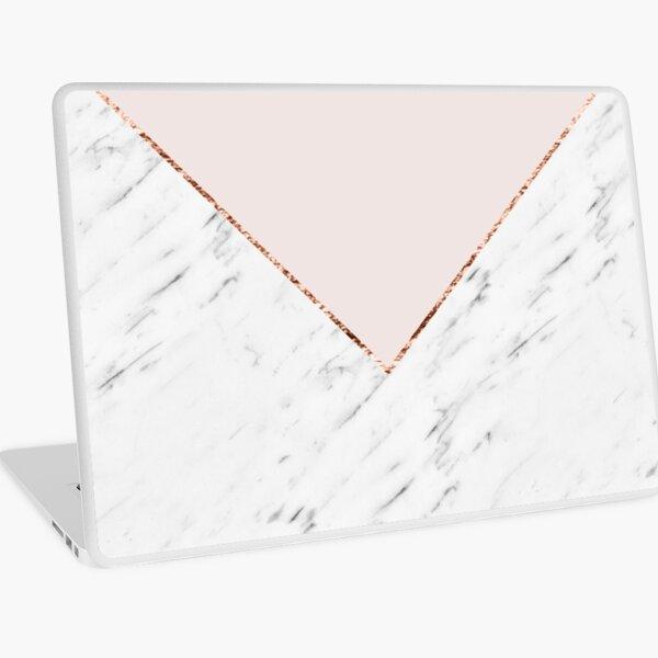Peony blush geometric marble Laptop Skin