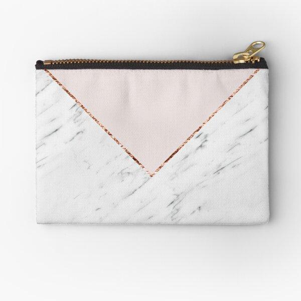 Peony blush geometric marble Zipper Pouch