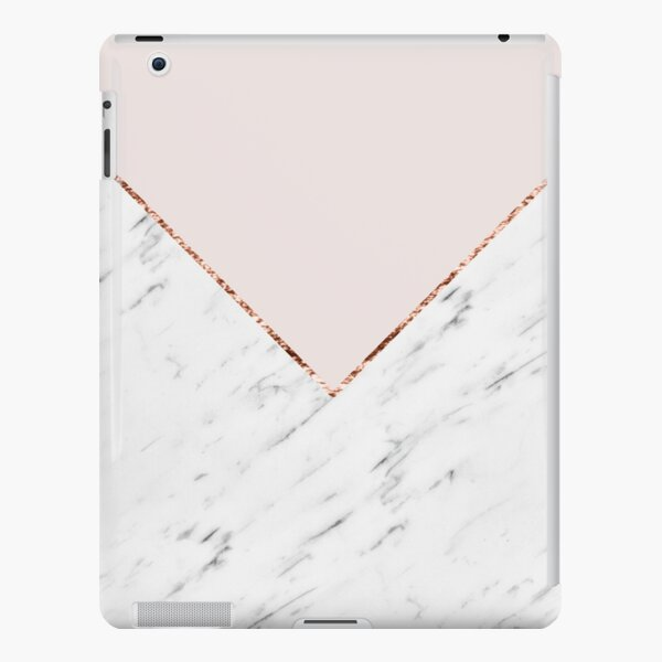 Peony blush geometric marble iPad Snap Case